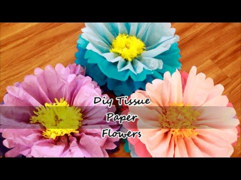DIY Giant Tissue Paper Flowers - YouTube