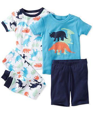 Carter's Baby Boys' 4-Piece Dino Pajamas
