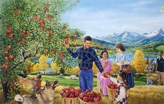A Paradise scene........the Bible promises a Better Future - Revelation 21: 3, 4 ... no more Death