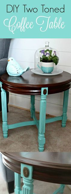 DIY Painted Coffee Table to add a Pop of Colour