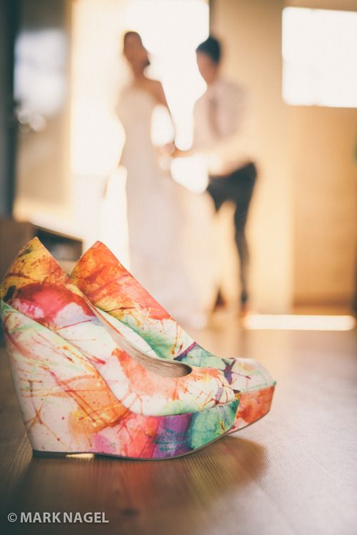 The bride's amazing shoes! - San Diego Wedding
