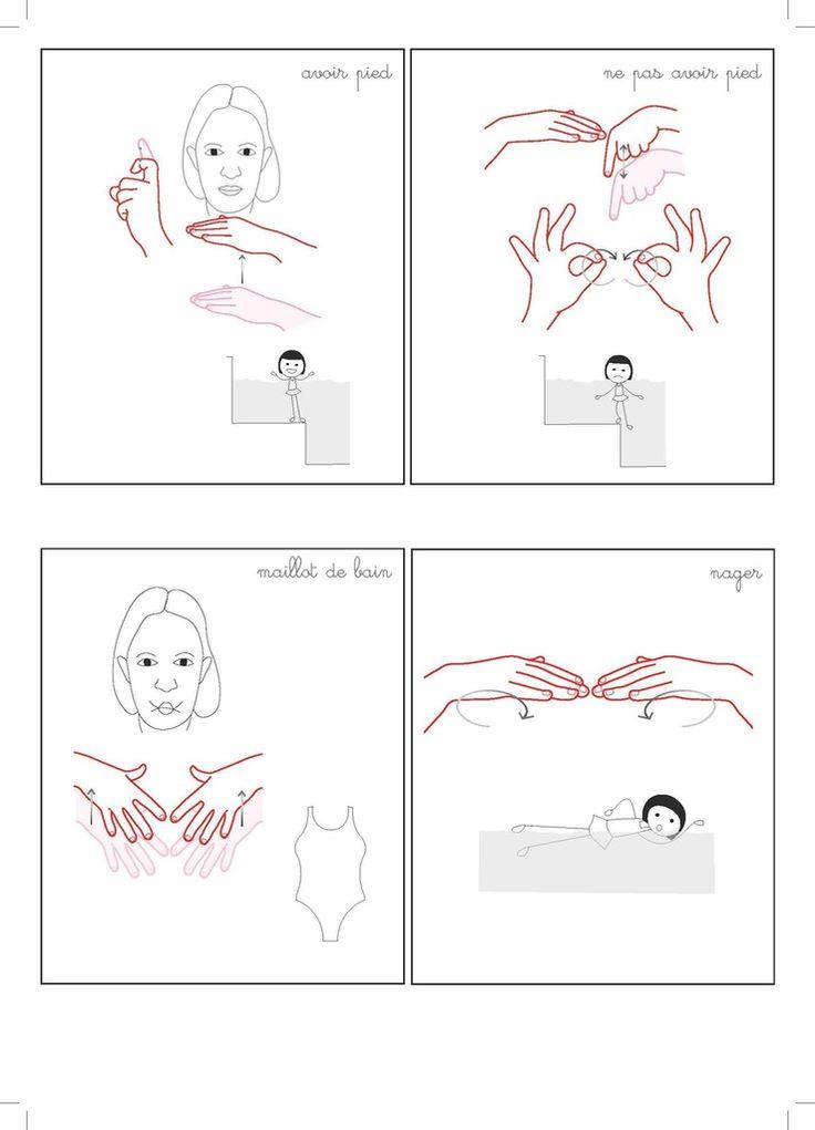 """mémo piscine page 3 à télécharger ci-dessous. Mémo réalisé à partir de l'envie d'Ambrine d'exprimer son expérience à la piscine : avoir pied, ne pas avoir pied et révision des mots LSF """"maillot de bain"""" et """"nager"""" téléchargement ici - piscine carte mémo..."""