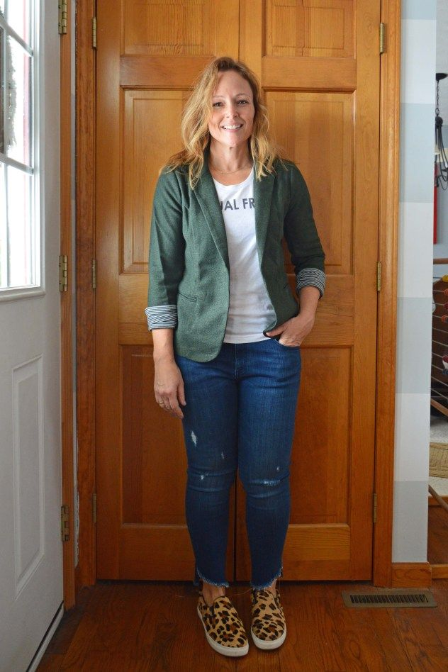 Stitch Fix review + try it FREE! Skies Are Blue Asa Knit Blazer #stitchfixinfluencer #stitchfix