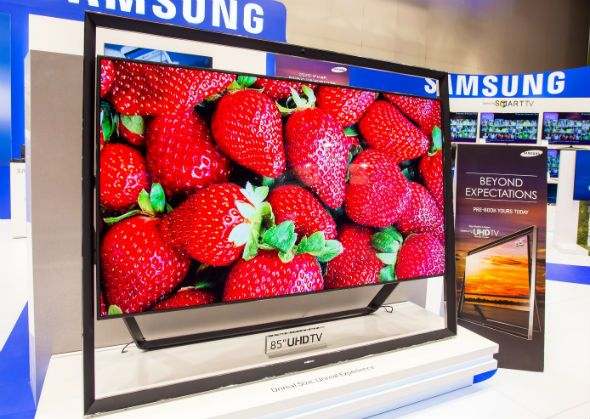 Samsung 85 inch Floating TV - So mesmerising, you won't even know what's playing on it. The Samsung 85 inch floating tv is here! Watch pictures come to life as you sit relaxed on your couch. What's more, its amazingly pocket friendly too!