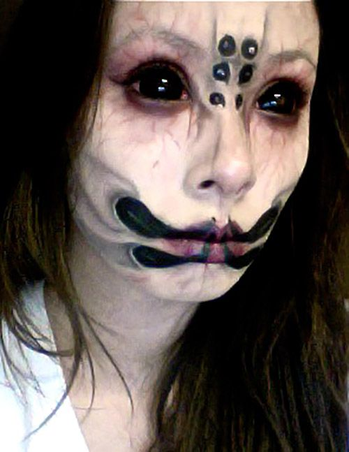 Special effects makeup idea / paired with some possessed black contact lenses ~ http://www.pinterest.com/pin/350717889705707881/