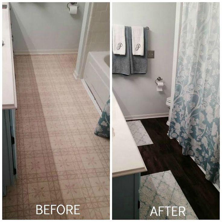 Peel and Stick Brown Tiles for Bathroom Floor :: Hometalk