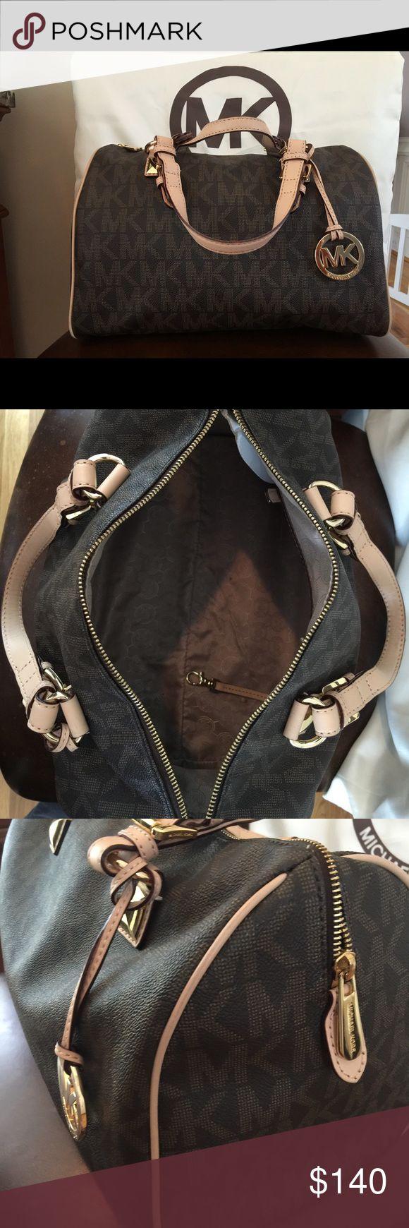 Michael KORS Grayson Leather Satchel EUC! Used a few times. Comes with duster bag. Smoke free home. KORS Michael Kors Bags Totes