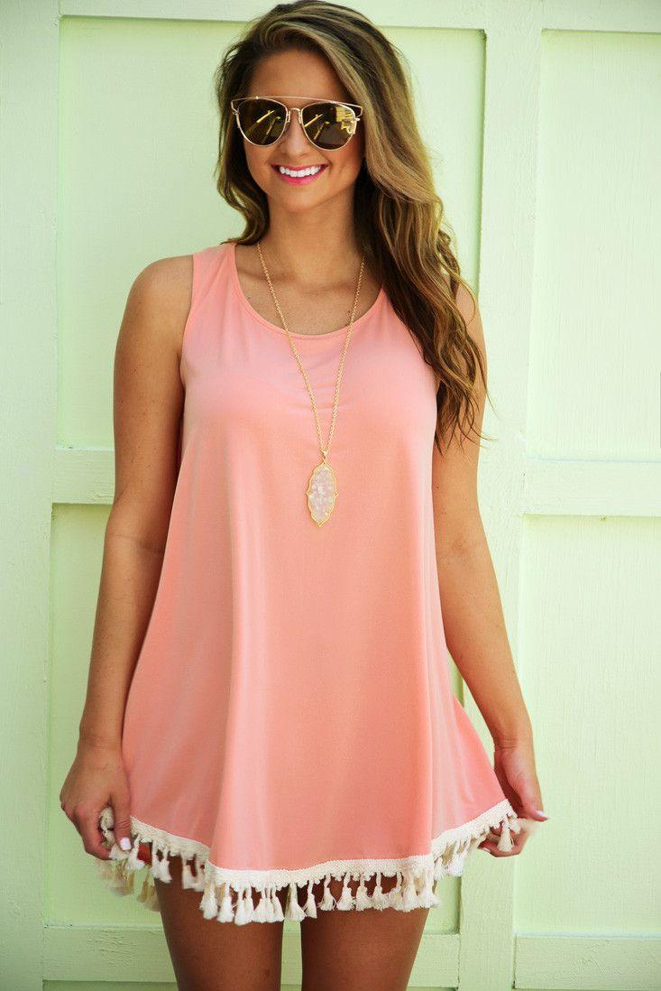Judith March: Got Me Hooked Dress: Peach/Sand #shophopes