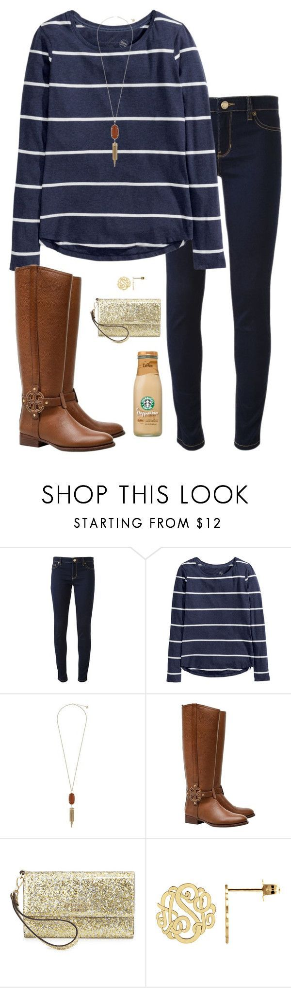"""Adeste Fideles"" by sc-prep-girl ❤ liked on Polyvore featuring Michael Kors, H&M, Kendra Scott, Tory Burch and Kate Spade"