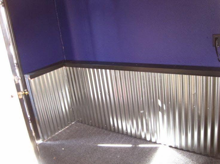 Metal Sheeting For Walls corrugated sheet metal along wall | random corrugated metal for