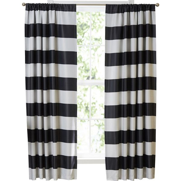Hamilton Room Darkening Striped Semi-Opaque Thermal Rod Pocket Panel... ❤ liked on Polyvore featuring home, home decor, window treatments, curtains, striped window treatments, thermal panels, thermal window treatments, striped thermal curtains and thermal draperies