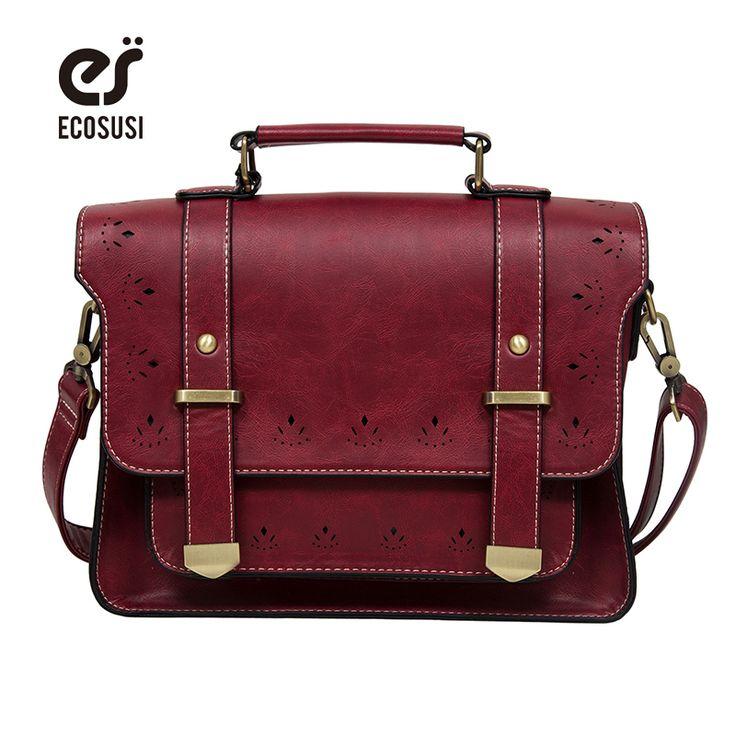 2016 Nieuwe Vrouwen PU Leather Messenger Bag Vintage Satchel Tas Lederen Aktetas Handtas