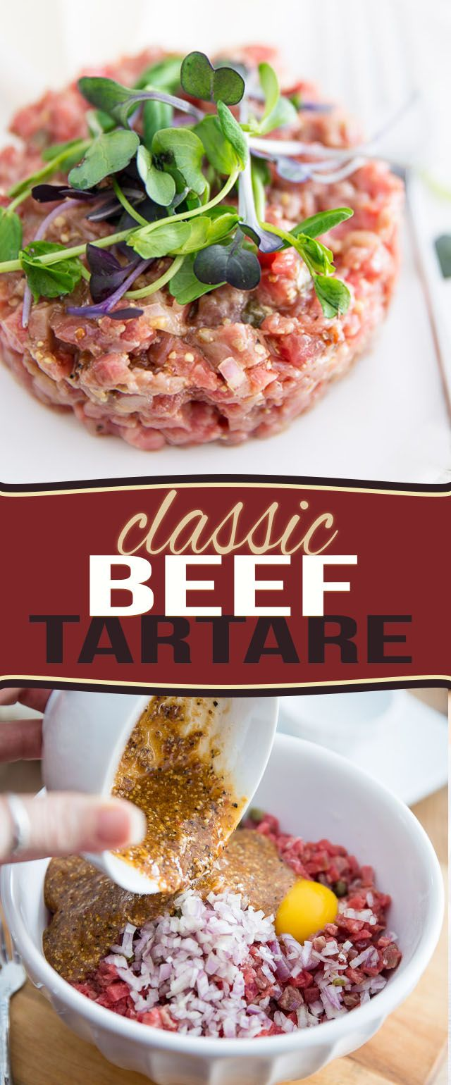 Save your tenderloin for the grill! You'll be surprised at how tasty and tender this Classic Beef Tartare is, despite using a very affordable cut of beef.