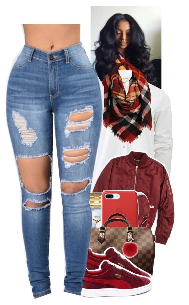 """Untitled #1755"" by toniiiiiiiiiiiiiii ❤ liked on Polyvore featuring rag & bone, Topshop, Beats by Dr. Dre, Nixon, Louis Vuitton, Sylvia Alexander and L.K.Bennett"