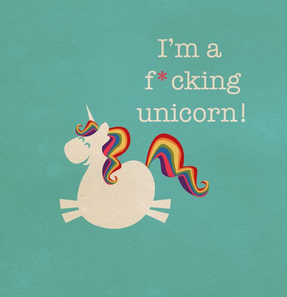 I'm a maturely speaking unicorn!!! Art Print