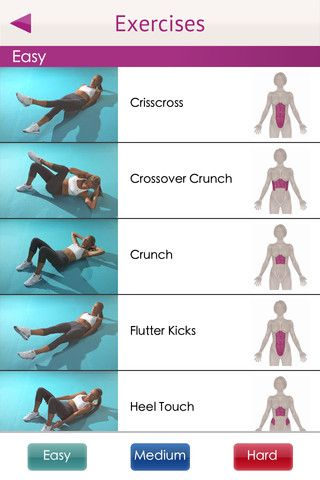 Great workout app for a toned tummy!