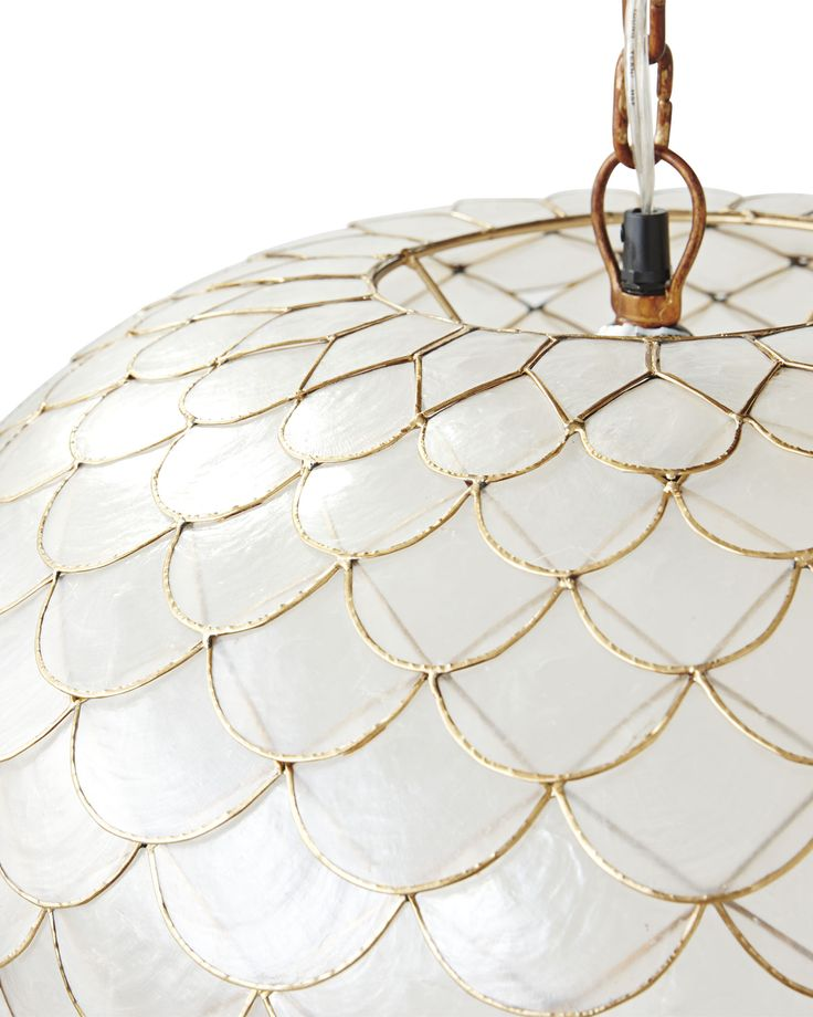 Capiz Scalloped Chandelier With Images Capiz Shell