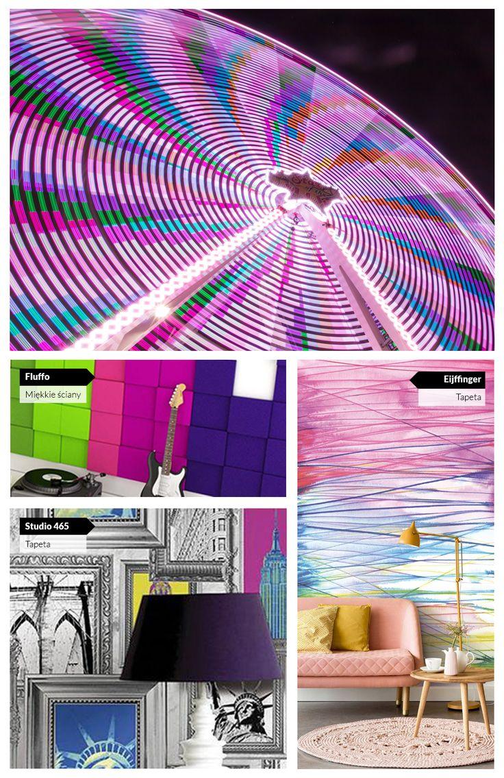 Pomysły na zakręcone, fioletowe wnętrza.