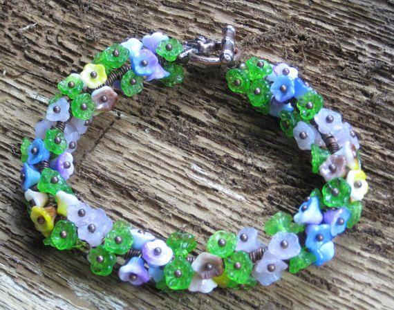 Flower Bracelet Spring with Copper Flower by PegasusAnTheMoon #Dorsetteam