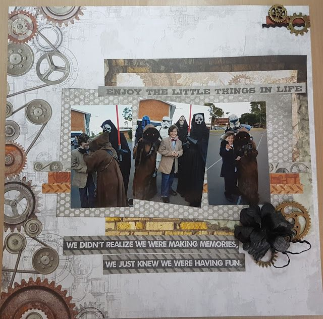 Layout about our day at Fraser Pop using Kaisercraft Factory 42 from Get Crafty in Ipswich