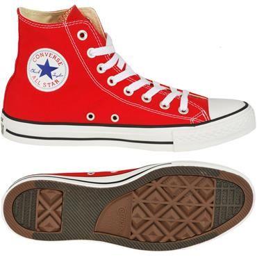 Converse Boty Kotníkové Converse Chuck Taylor All Star červená/bílá velký