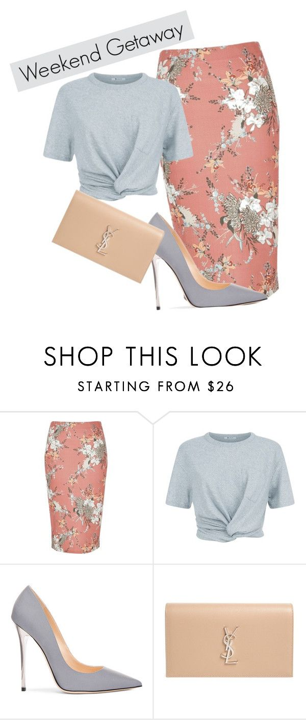"""Untitled #473"" by melaniem19 ❤ liked on Polyvore featuring River Island, T By Alexander Wang, Jimmy Choo and Yves Saint Laurent"