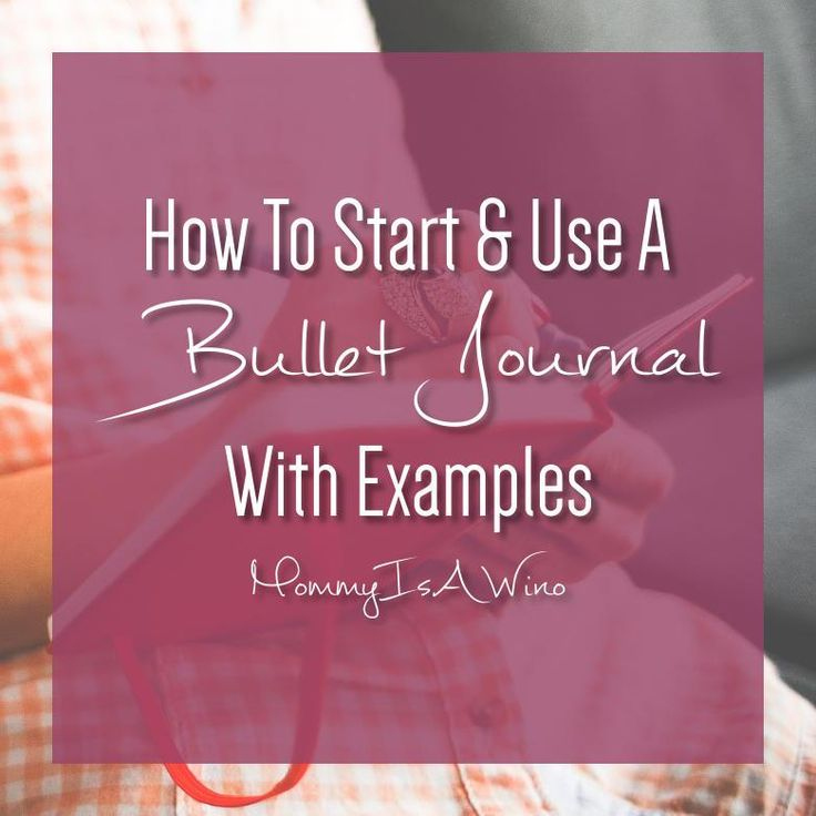 A bullet journal is a fantastic and fluid way to keep your life organized. It's a planner, journal, to do list, and so much more. Read now or Pin for later.