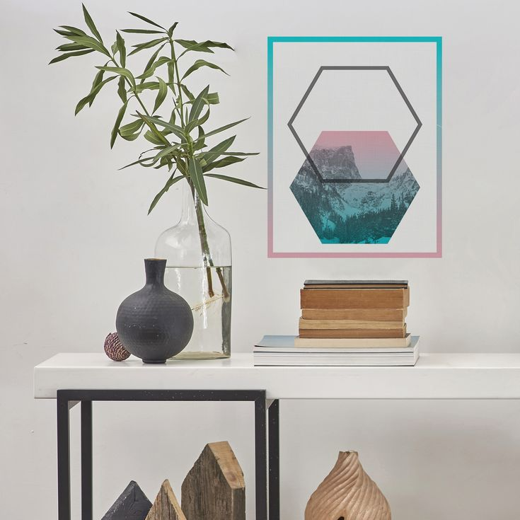 We added some funky geo flair to your standard landscape decal. You can thank us when your room looks amazing.   This fabric print comes from an all NEW limited edition fabric print line that is available ONLY on Amazon. Hurry hurry, until the end of the day use the promo code 15NEWDAY for 15% off!  #PaperRiot #WallDecals #Geo #FabricWallPrint  http://amzn.to/2BegG1A