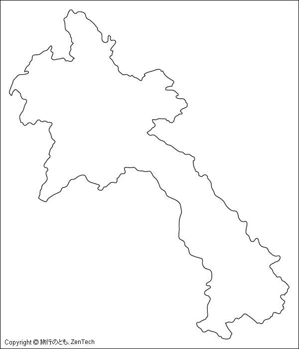 ラオス白地図