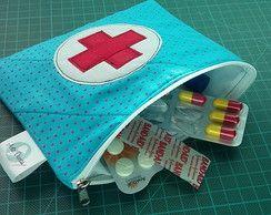 Necessaire Porta Remédios #Azul Turqueza