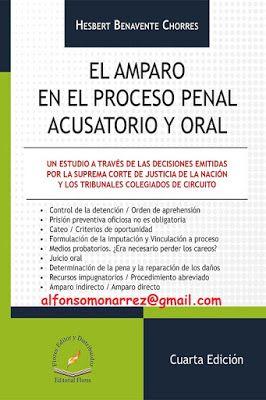 LIBROS EN DERECHO: AMPARO EN EL PROCESO PENAL ACUSATORIO Y ORAL 2017 ...