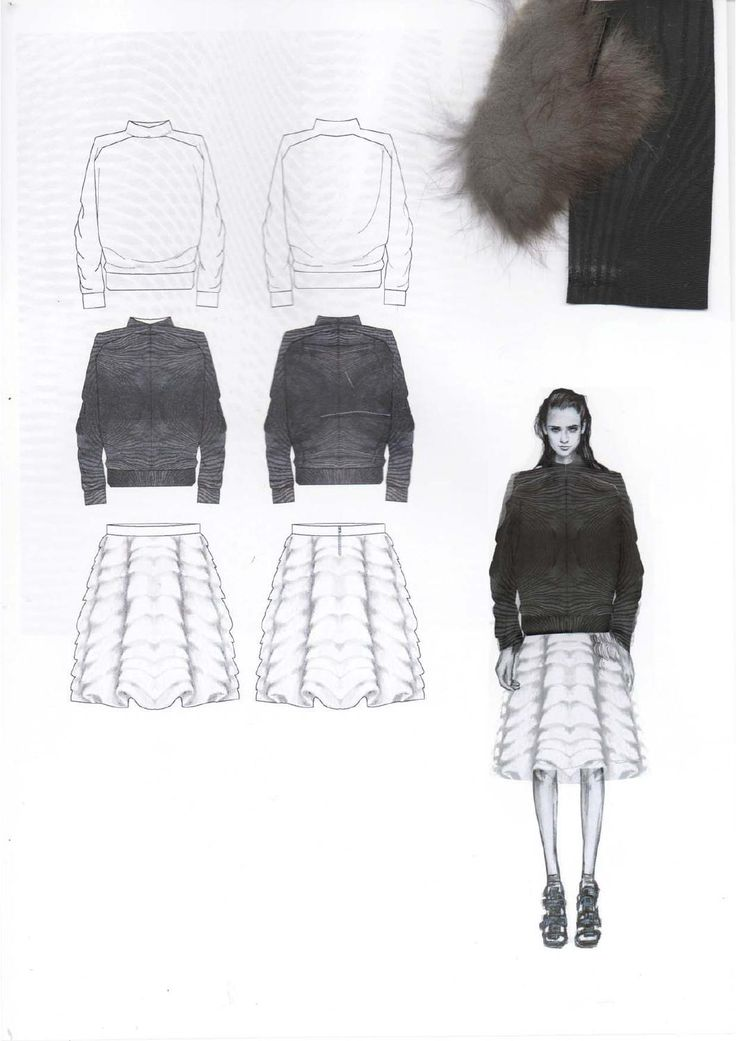 Fashion Sketchbook - fashion design drawings & textile swatches; fashion portfolio; developing a collection // Amy Dee