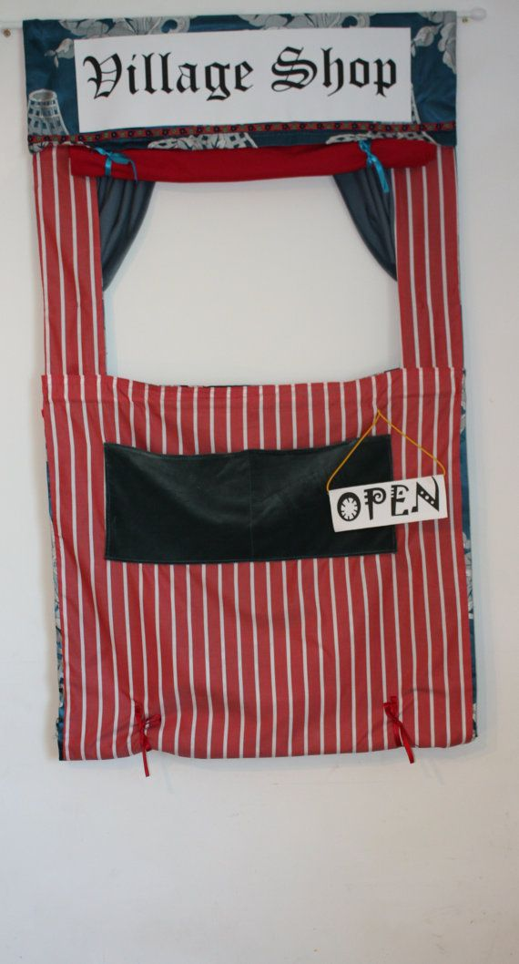 Doorway Puppet Theater and Shop toy by quilteddesignsbybex on Etsy, £60.00
