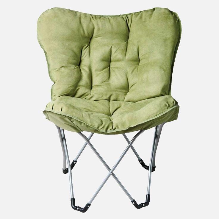 Stylish Green Folding Chair With Cushion Chairs Pinterest Cushions Cha