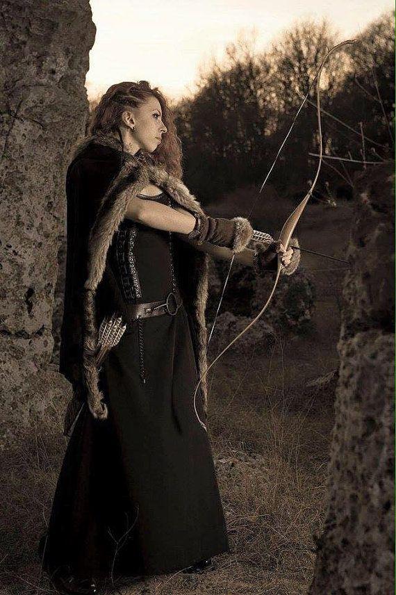Robe costume/Viking celtique robe/Viking et le manteau avec les vêtements de fourrure/médiéval/Game of Thrones inspirent costume viking costume/femme