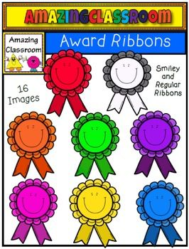 (FREE) Smiley Award Ribbons Clip Art