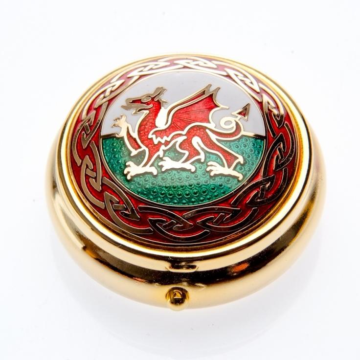 Gifts: Welsh dragon enamel pillbox - Celtic Lands   Stunning Celtic Jewellery & Gifts