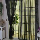 See Through Curtains Voile Window Panel Solid Eyelets 200cm Width X 100cm Deep …  – Rollos, Gardinen, Vorhänge