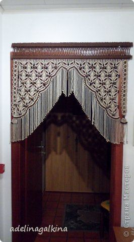Интерьер Макраме Схема плетения макраме-шторы Нитки фото 1