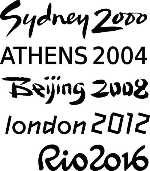 la cuisine du graphiste: Rio 2016 a sa typo