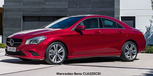 Mercedes-Benz CLA CLA220 CDI  price : R397,292.00  Engine size : 2.1L turbo diesel Fuel type : Diesel Fuel tank range average : 1111km Fuel tank capacity including reserve : 50L Max top speed : 230km/h 0-100km/h : 8.2seconds Gearbox : Manual