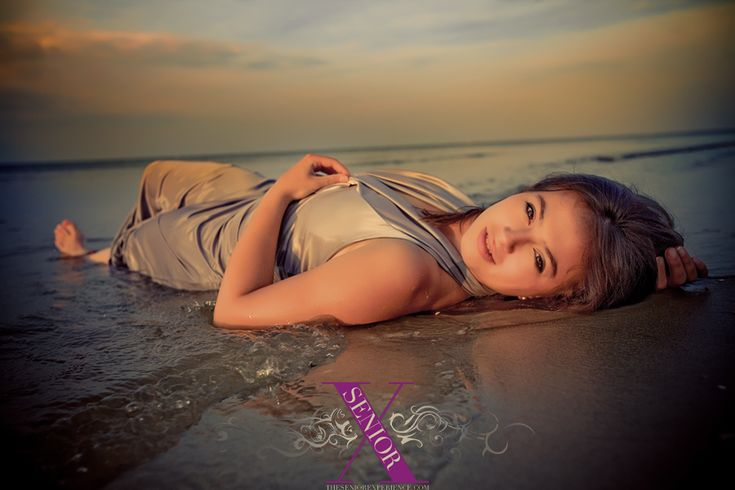 senior pictures ideas for girls on the beach | Trash the Formal at the Beach!