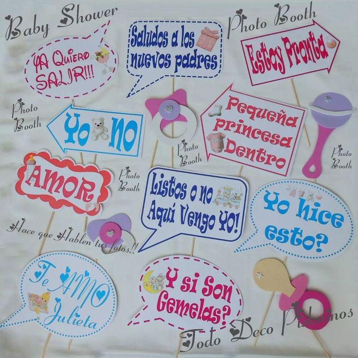photo booth carteles divertidos para tus fotos baby shower