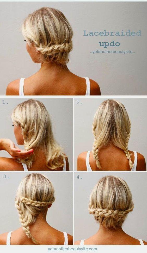 peinados cabello corto recogido paso a paso - Buscar con Google: