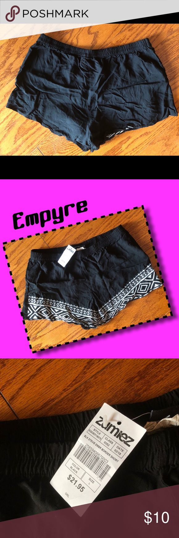 """Zumiez Aztec shorts Loose draped fit. Elastic waistband. Lightweight and breathable construction for a comfortable wear. 100% rayon. 2"""" inseam, 10"""" outseam, 11"""" front rise. 🚭 home. Empyre by Zumiez Shorts"""