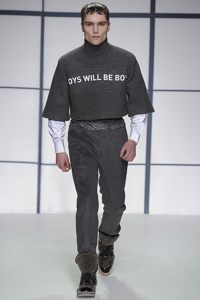 Xander Zhou AW13  #LondonCollections  BOYS WILL BE BOYS.....