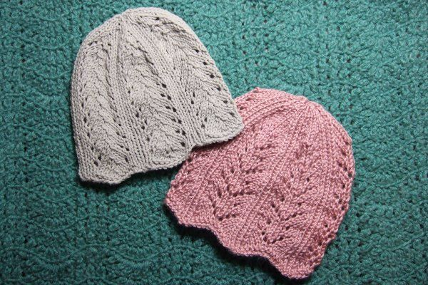 Free knitting patterns for lace hats  and more beanie knitting patterns at http://intheloopknitting.com/beanie-hat-knitting-patterns/