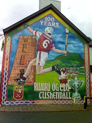 https://flic.kr/p/nZmBF | Cushendall mural | A commemoration of 100 years of club Hurling in Cushendall, Co Antrim.