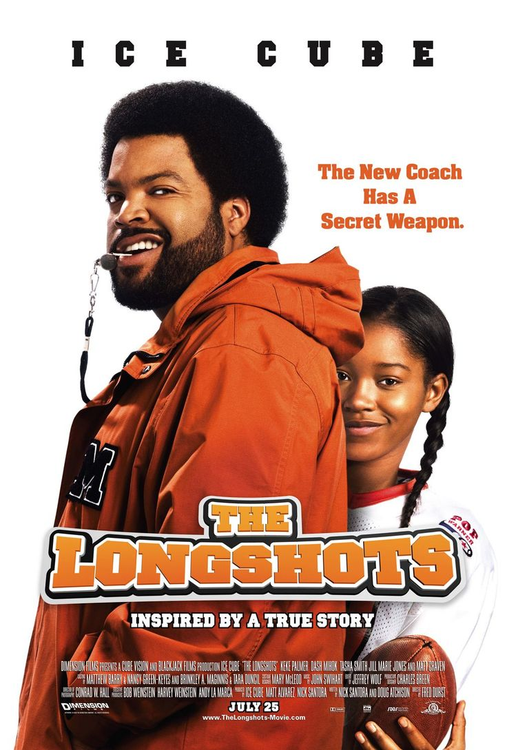 The Longshots , starring Ice Cube, Keke Palmer, Tasha Smith, Jill Marie Jones. The true story of Jasmine Plummer who, at the age of eleven, became the first female to play in Pop Warner football tournament in its 56-year history. #Biography #Comedy #Drama #Family #Sport