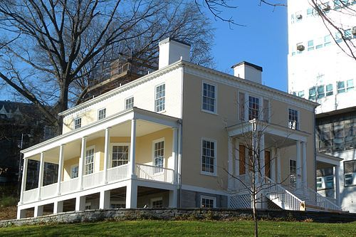 """Hamilton Grange National Memorial, St Nicholas Park, New York City, New York was Alexander Hamilton's home that he had built in 1802, two years before his death resulting from a duel with Aaron Burr on July 11, 1804.  The house was named """"The Grange"""" after Hamilton's grandfather's estate in Scotland."""